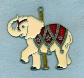 Carousel Elephant Sun Catcher