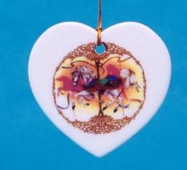 Flat Heart Ornament