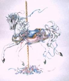 Blue saddle horse
