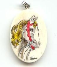 Medium horse pendant