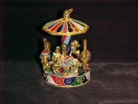 Enameled Carousel Ornament