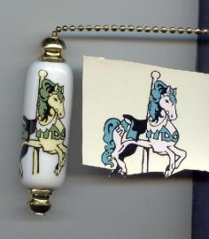 White horse fan pull