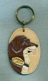 Painted St. Bernard Key Chain