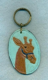 Painted Giraffe Key Chain