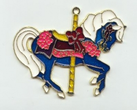 Blue horse sun catcher