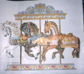 Three horses-armored